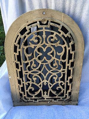 "Arch Top Heat Grate Register Clover Raised Front Vintage 14 x 10"" - 3 available"