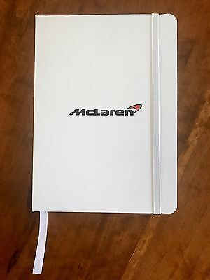 **McLaren**  Bound Lined Notebook with Satin Page Marker & Band Closure