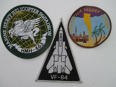 Vintage Marine Heavy Helicopter HMH-463, VF-84& Desert Storm Patches LOT of 3