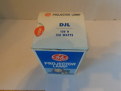 New DJL 120V 150W GE Photo Lamp 8mm Projector Bulb. New Old Stock. Free Shipping