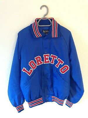 Vintage Butwin Baseball / Varsity Jacket Blue Medium