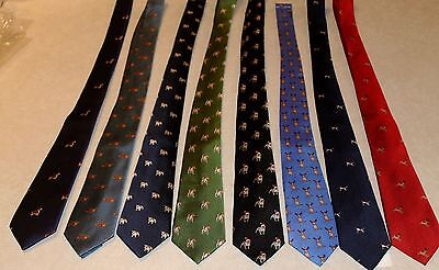 Kid's Neck Ties Airplanes / Dog's Reindeer On A 100% Silk Neck Tie Free Shipping