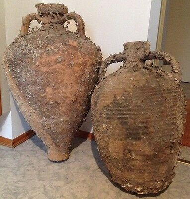 Large Ancient Roman Shipwreck Salvaged Transport Amphoras - 100 AD
