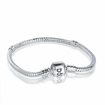 European Silver Charms Bracelet 925 Bangle Chain Fit Sterling Charm Beads Beads