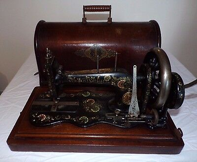 Antique Very Rare 1888 Singer 12K Fiddle Base Sewing Machine - Ottoman Carnation