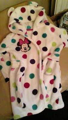 Minnie mouse dressing gown by disney age 12-18 months