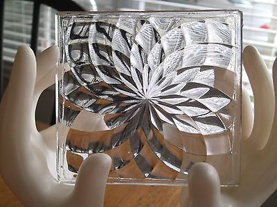 5 Luxfer Prism Glass Tiles circa 1910 Pinwheel pattern Light Gathering Tile