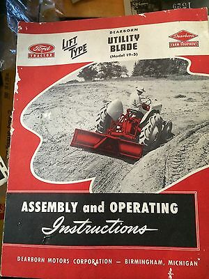 1951 Ford Tractor 14 Page Uti[Ity Blade Instructions