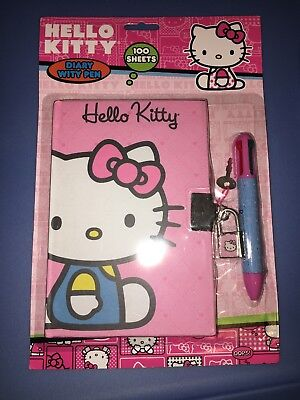 Brand new Hello Kitty Diary With Pen and lock