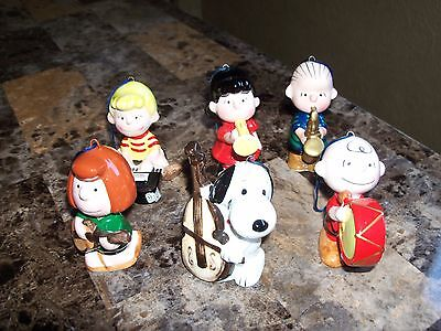 6 Vintage Peanuts 1976 Ornaments By Ufs Inc Made In Japan