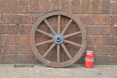 Vintage old wooden cart wagon wheel  / 41 cm - FREE DELIVERY
