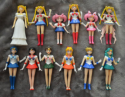 Sailor Moon Bandai Romantic Heroine Figure Lot Authentic Serenity Chibimoon