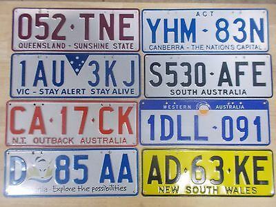 License plate Number plate WOW !!! ALL EIGHT STATES OR TERRITORIES