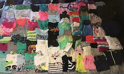 Huge 90 Piece Girls Clothes Lot Sizes 6-8 Name Brand Items *euc & New* Must See!