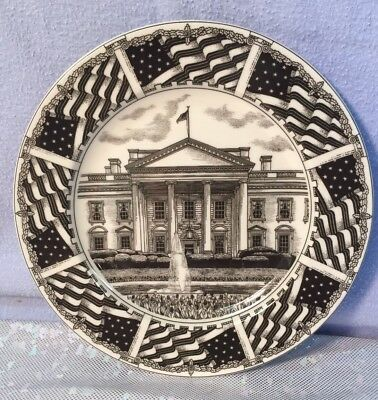 """222 Fifth Slice of Life White House Porcelain Luncheon Dessert Plate 8"""""""