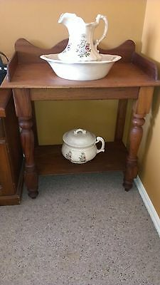 Jug & Basin set PLUS Chamber Pot  & STAND