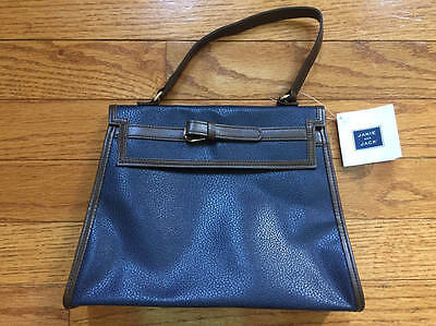 NWT Janie and Jack RIDING LESSON blue/brown pleather purse 2 3 4 5 6 7