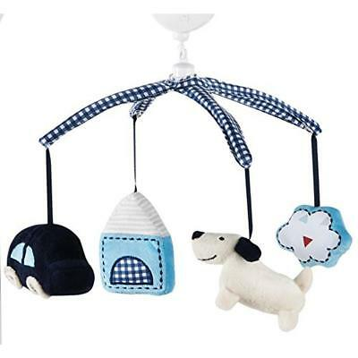 Kids Line 5354 Road Map Blue Plush Brahams Lullaby Musical Crib Mobile BHFO