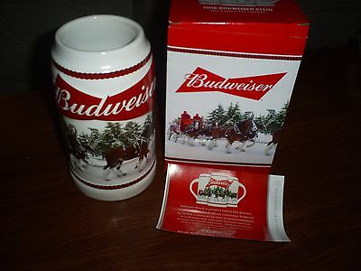 2016 Budweiser Holiday Christmas  Stein  Clydesdale Beer Busch