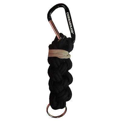Real Bullet Zip Braid Paracord with Steel Carabiner ZB10-BK