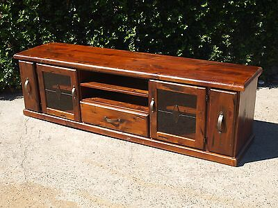 Solid Timber Low Lying Entertainment Tv Unit