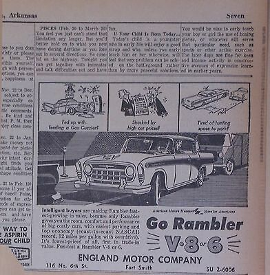 1957 newspaper ad for Rambler - Fed up with gas guzzlers? Intelligent buyers