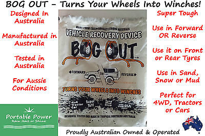 BOG OUT Vehicle Recovery Device - Twin Pack Wheel Winch for 4WD, Tractors & Cars