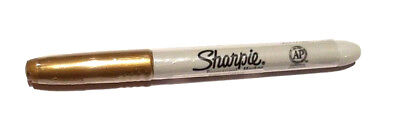 Sharpie Fine Pt Perm Marker, Metallic Gold Factory Wrapped to Preserve 1 Each