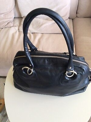 Bisonte Black Leather Bag
