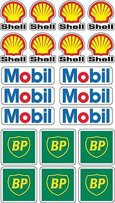 fuel sticker pack mobil shell bp