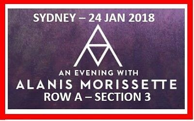 Alanis Morissette - 2 X Front Row A Gold Reserved Tickets - Sydney