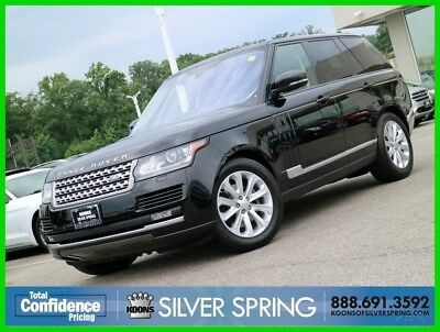 2016 Land Rover Range Rover HSE TD6 2016 HSE TD6 Used Turbo 3L V6 24V Automatic 4WD SUV Moonroof Premium