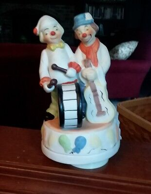 Vintage Send In The Clowns Porcelain Music Box