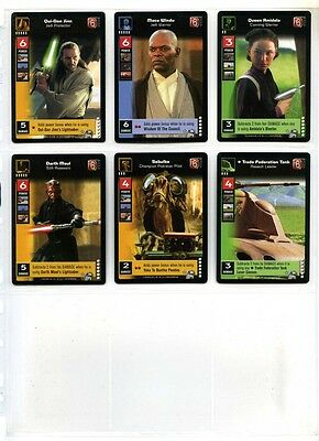 Young Jedi CCG Enhanced Menace of Darth Maul Full Set of 6 Prem Cards #P1 to #P6