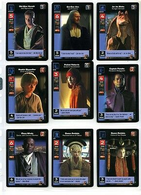 Star Wars Young Jedi CCG Jedi Council NM to MT Complete Set of Cards #1 to #140