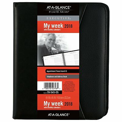 At-A-Glance 70-545-05 Executive Weekly/monthly Appointment Book, 6 5/8 X 8 3/4,