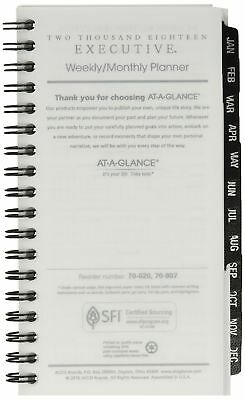 At-A-Glance 70-907-10 Executive Pocket Size Weekly/monthly Planner Refill, 3 1/4