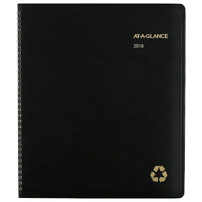 At-A-Glance 70260G0509 Recycled Monthly Planner, 9 X 11, Black, 2018-2019