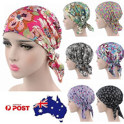 Cotton Fitted Bandana Durag Headwrap Head Wrap Hat Chemo Scarf Turban Paisley