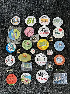 Range of Collectible Herbalife Badges & Broches