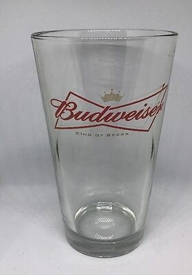 Budweiser King Of Beers Bar Glass Large Logo Glass