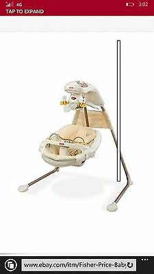 Fisher Price Nature's Touch Cradle Swing used