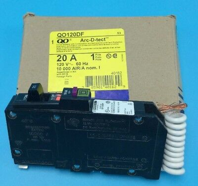 New Circuit Breaker Square D HOMT2020  20/20 Amp Two 1 Pole 120/240V Twin Tandem