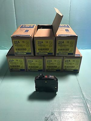 Square D Qo120  20 Amp 1Pole Circuit Breaker 120/240 Volt **new**