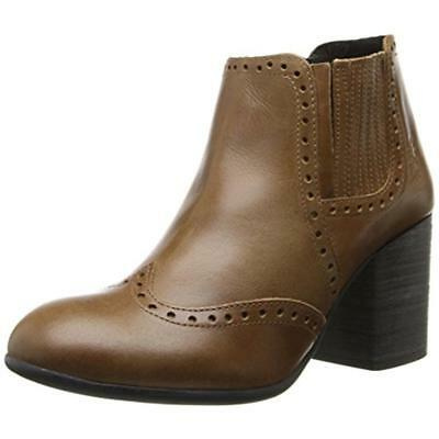 FLY London 9196 Womens ASDL Brown Leather Ankle Boots Shoes 37 Medium (B,M) BHFO