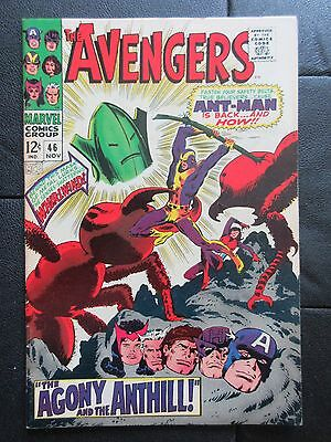 Marvel AVENGERS 46 (1967) RETURN OF ANT-MAN! WHIRL-WIND! WASP! BUSCEMA ART!