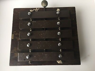 1930 Vintage J.C Deagan Chicago Dinner Chimes 5 Note Xylophone With Stick Mallet