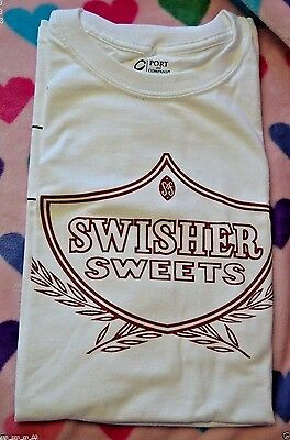 Port and Company Swisher Sweets White Cotton T-Shirt Size Large NEW