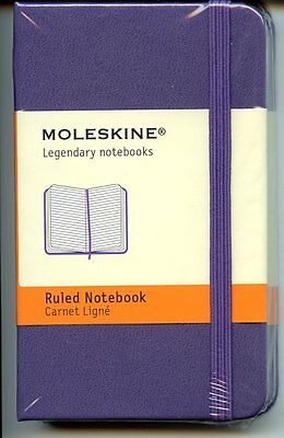 Moleskine Ruled Notebook, Extra Small, 160 pp, Brilliant Violet, Hard Cover 2.5