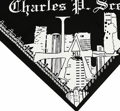 Hollywood Undead Charlie Scene Bandana (white on black)